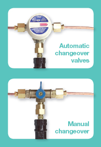 gas bottle changeover valves