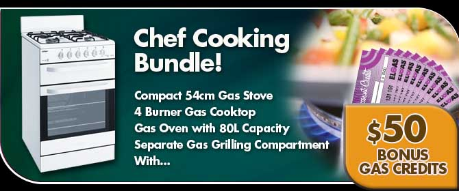 Chef Gas Stove LPG Bundle Sale